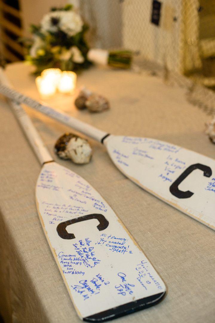 Nautical Hamptons Wedding from Amaranth Photography - beach wedding guestbook idea