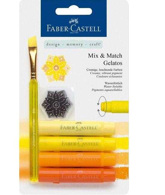 Faber Castell Gelatos - Pigment Sticks - Geel 4 st. €13,50