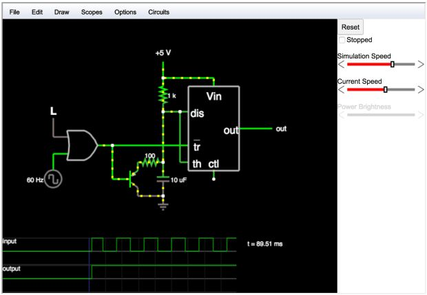Circuit Simulator - A browser based circuit simulator that includes oscilloscope functionality