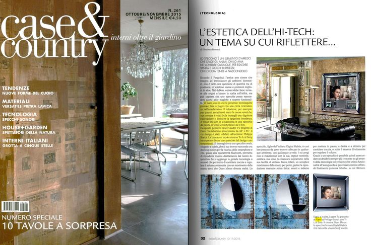 Caadre mirror by #Fiam, design Philippe Starck, on Case&Country - October/November 2015