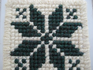 Traditional fair isle pattern done in giant cross stitch for some excellent coasters.