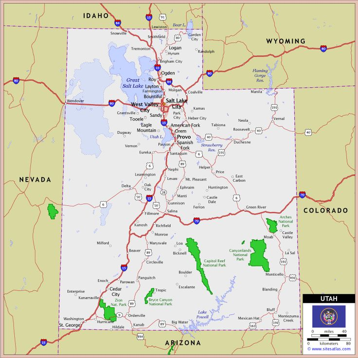 Utah Highway And Road Map Go Utah Pinterest Utah - Utah road map