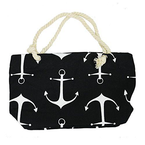 New Trending Make Up Bags: Anchor Canvas Large Tote Rope Handles, Black. Anchor Canvas Large Tote Rope Handles, Black   Special Offer: $16.99      422 Reviews Never feel you have to chose between style and function again! This sturdy canvas tote is large enough to take all you need for the day, and stylish enough in print and dimensions to ensure you're...