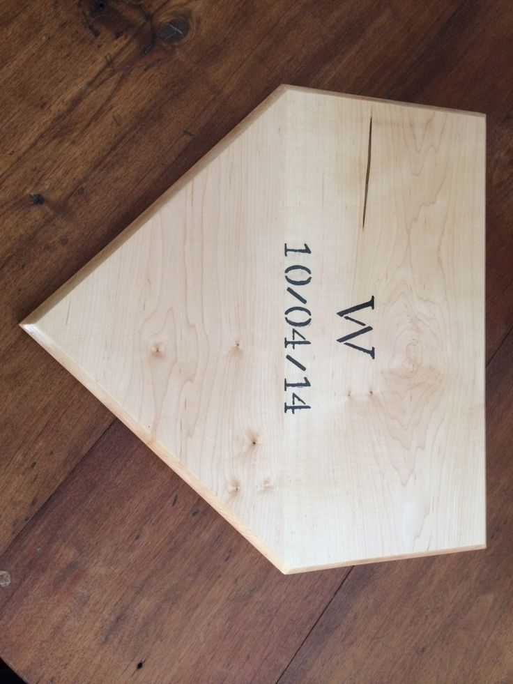 Baseball Homeplate Guestbook/Wedding Gift by MinetolaWoodworking on Etsy https://www.etsy.com/listing/181594060/baseball-homeplate-guestbookwedding-gift
