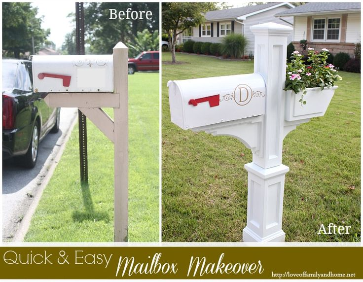 Quick & Easy Mailbox Makeover via http://loveoffamilyandhome.net