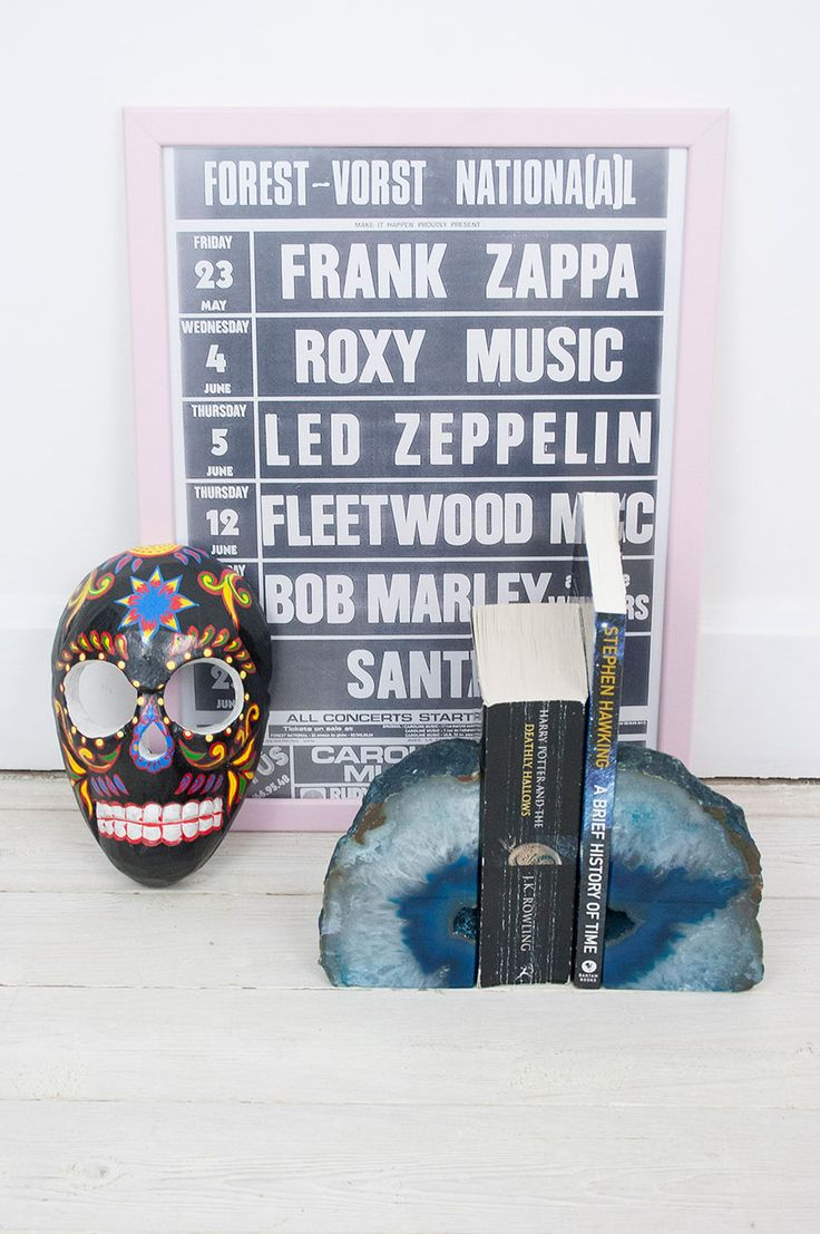 Indonesian Skull Mask Black #homeware #home #homesweethome #interiors #homeinteriors #wallart #handpainted #mexicanskull #crystals #crystal #agate #bookends #skullhomeware