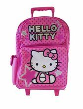Hello Kitty Large 16 Inch Cloth Rolling Backpack With Wheels - All Star
