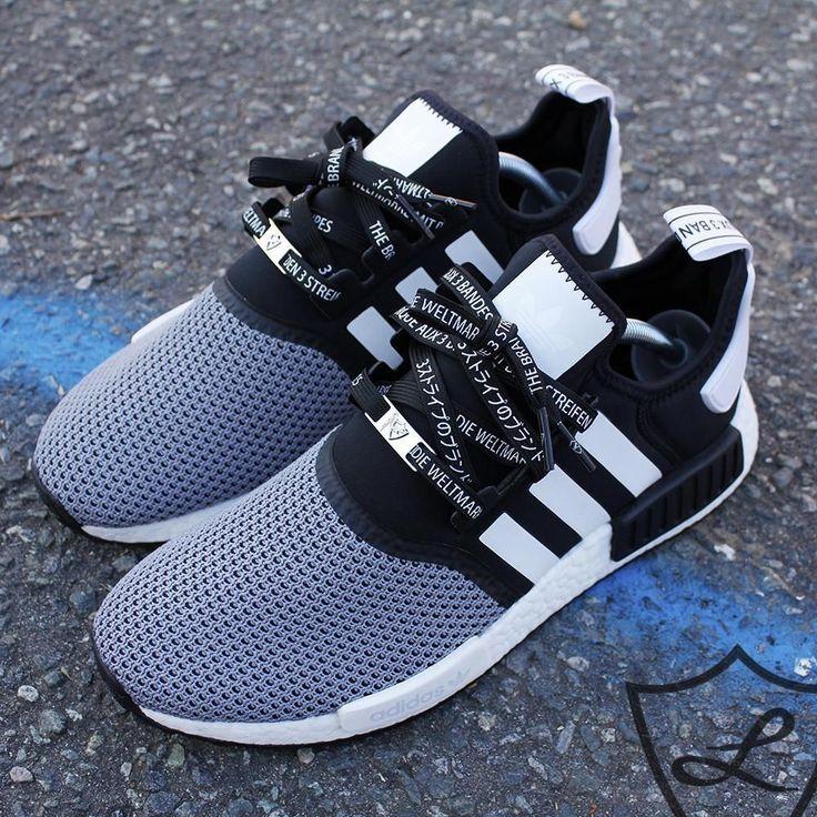 Schwarze 3 Stripes International Schnürsenkel- Naizsey- # Adidasshoes