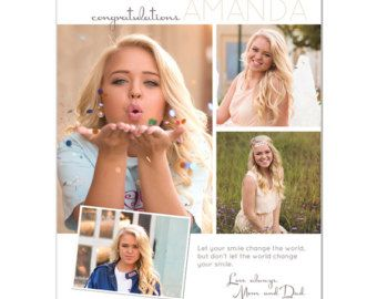 Senior Yearbook Ads Photoshop Templates HOT SHOTS by ashedesign