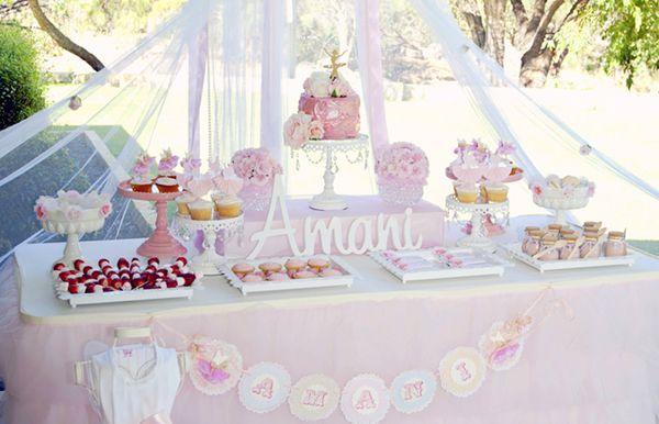 Eine rosa Ballerina Geburtstagsfeier  
