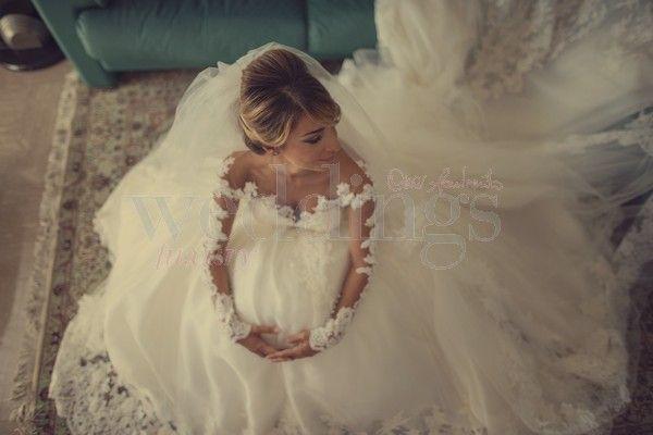 Matrimonio fashion. Ecco tutti i segreti dell'abito da sposa di Eleonora Brunacci by Alessandra Rinaudo.