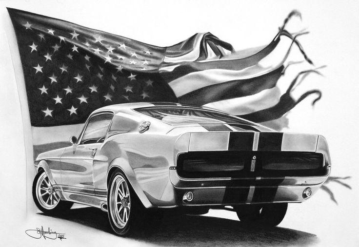 Eleanor Mustang drawing by *Portraitz on deviantART