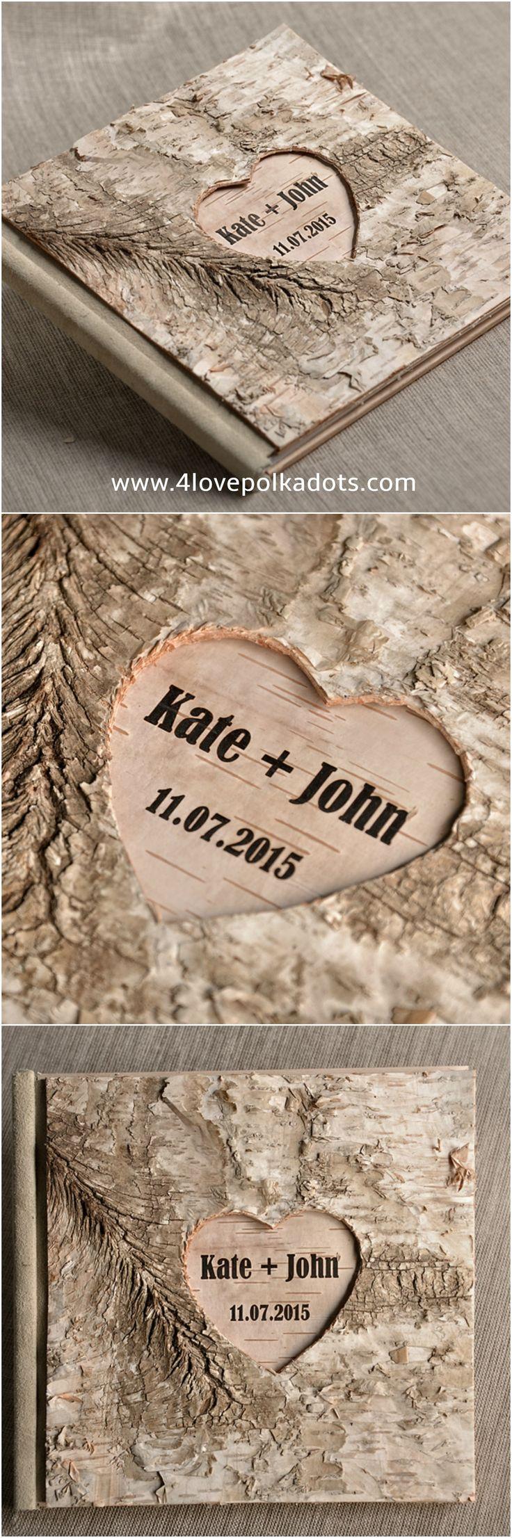 Wooden #guestbook #4lovepolkadots #weddingguestbook #guestbookrustic #rusticguestbook