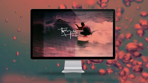 Web Design for the Italian brand 'Kipu Surfboards'.  www.lutherdsgn.com