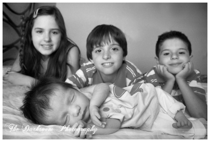 Kaylee, Dylan, AJ & Rylynne      this is the one Heather was talking about :)  #thedarkroomphotography  #portraiture #photography  #newborn #baby #siblings