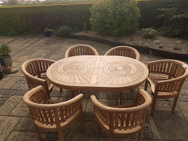 teak garden furniture teak table with bowood chairs