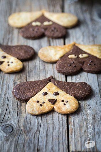 Biscotti a forma di cane al cacao e vaniglia