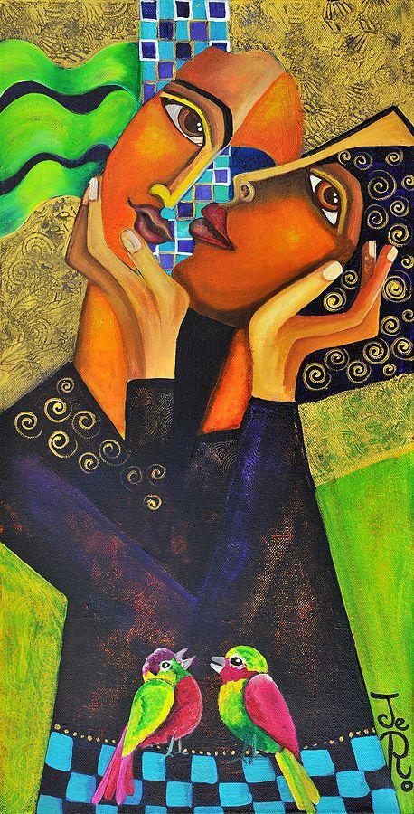 Einige Zweisamkeit Acryl auf Leinwand von Jeanett Rotter