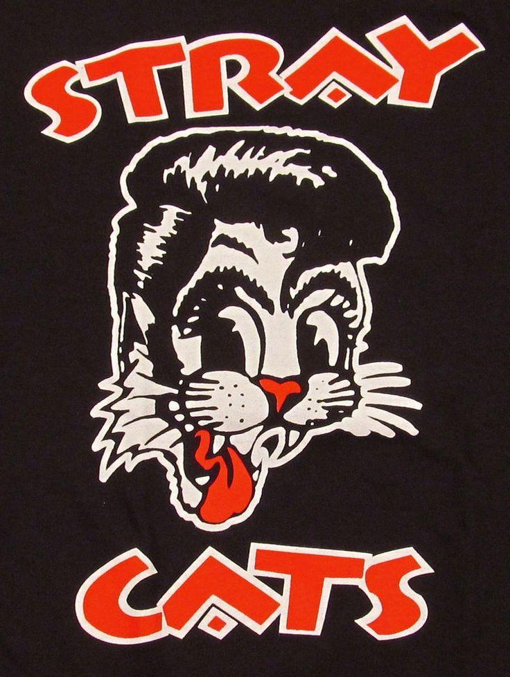 STRAY CATS T-shirt Rockabilly Cool Cat Tattoo Adult S,M,L,XL,2X Tee Brian Setzer #Unbranded #GraphicTee
