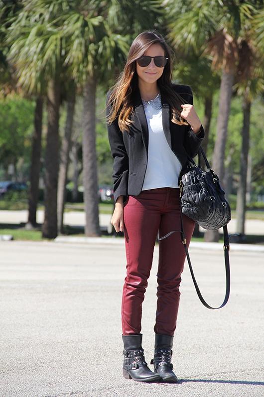 Calça + look básico