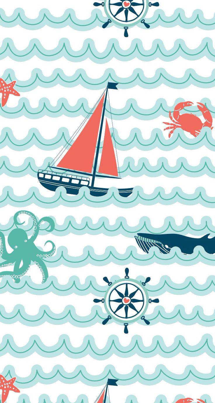 Nautical sailboat iphone wallpaper