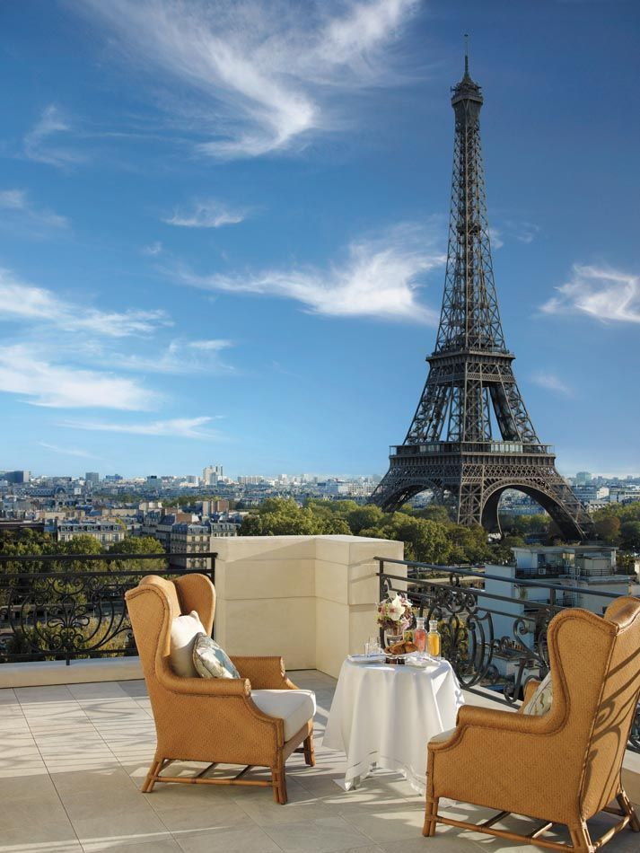 Home Design Shangri La Hotel Paris Terrace Picture And Eiffel Tower Scenery