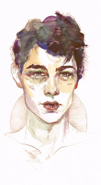 Beautiful hand-drawn portrait