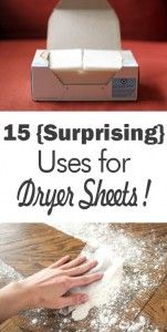 Dryer sheets, uses for dryer sheets, weird uses for dryer sheets, popular pin, cleaning hacks, cleaning tips, life hacks, easy cleaning tips.