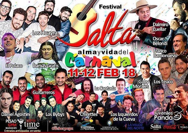 11 12 Febrero 2018 Festival Salta Alma y Vida del Carnaval  #Vaqueros #Salta #Argentina #Mundo . . . #Evento #QHS #Music #Show #Folklore #Arte #Cultura #Travel #Festival #Party #Dance #Turismo #Turis #Fiesta #Alma #Vida #Carnaval  #Love #Happy #Family #Friends  #MunicicipalidadDeVaqueros #GobiernoDeSalta #SaltaTuCiudad #SaltaTanLindaQueEnamora Toda la info que necesitas la podes encontrar aquí  http://quehacemossalta.com/