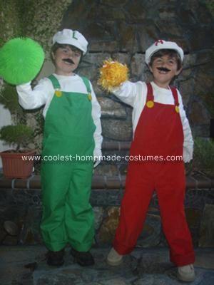 Coolest Fire Mario And Fire Luigi Halloween Costumes & Fire Luigi Costume - Meningrey