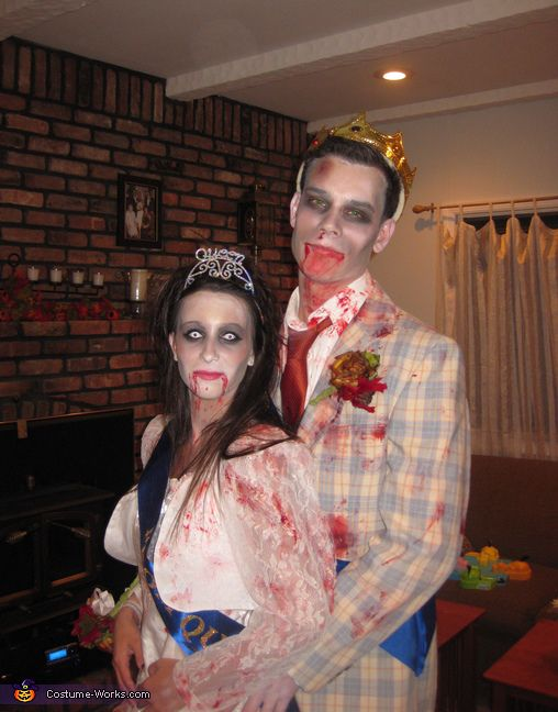 Alexa: Taylor & Alexa are the zombie prom king and queen. Due to the sudden popularity of zombies, we thought zombies would be a fun and relevant costume. Then we thought...