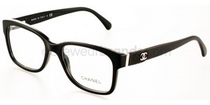 Chanel Eyeglasses Chanel 3246Q C 501 in Black w Quilted Leather ... : chanel quilted glasses - Adamdwight.com