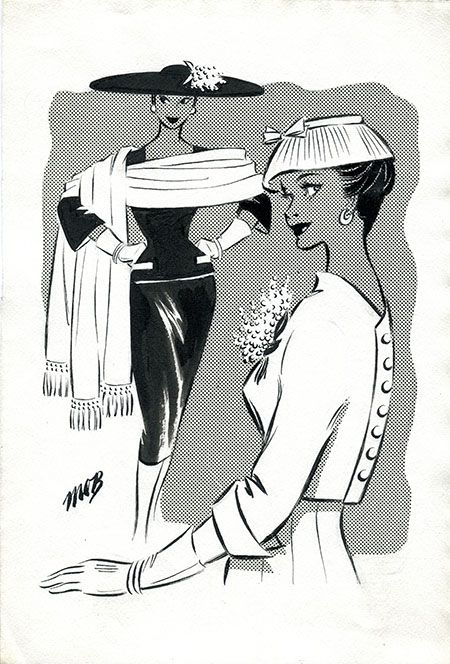 Margaret Oliver Brown fashion illustrator (archive reference: DC/51/2/10).