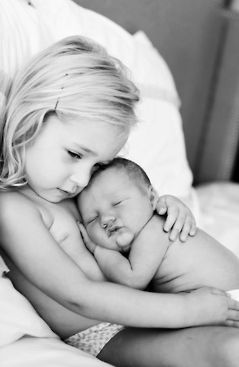Perhaps one of the most precious things in the world is the love your first has for your second <3