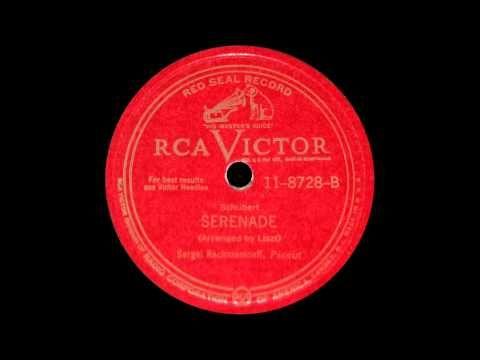 ▶ Rachmaninoff plays Schubert Ständchen (1942) - YouTube