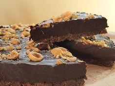 Τάρτα σοκολάτα με πραλίνα φουντουκιού (μερέντα ή νουτέλα)