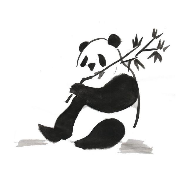 Isabel Rincón #Drawing #Ink #Sumi-e #Panda | • i l u s t r ...