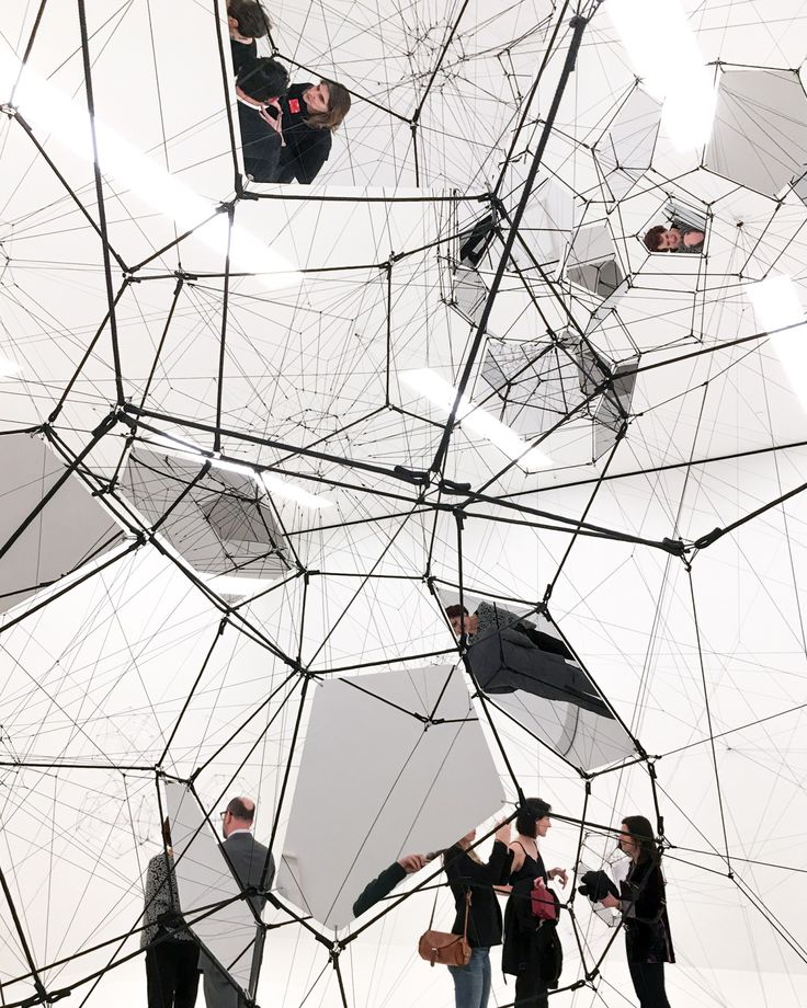 "Tomás Saraceno. ""Stillness in Motion – Cloud Cities"", 2016. Installation  view"