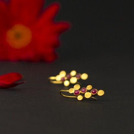 Vineyard Ruby Earrings: Vineyard inspired designer earrings featuring rubies that add a sparkle to that special woman.