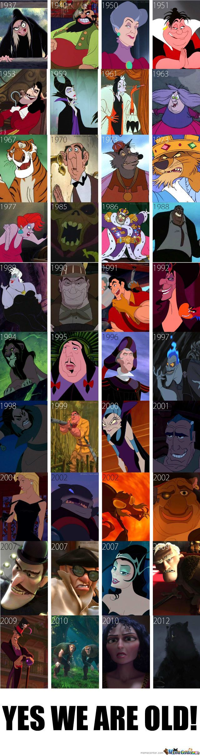 Disney Villians... My fave is Hades!!  (They left out a few Pixar's! And Mother Gothel is the main villain for Tangled... duh!)