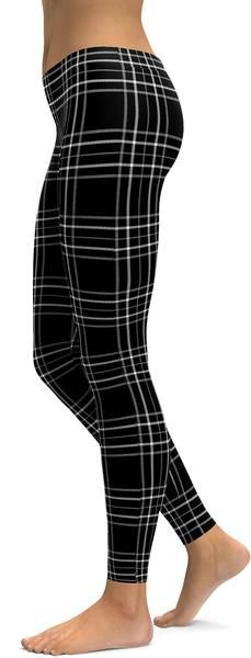 Black & White Tartan Leggings
