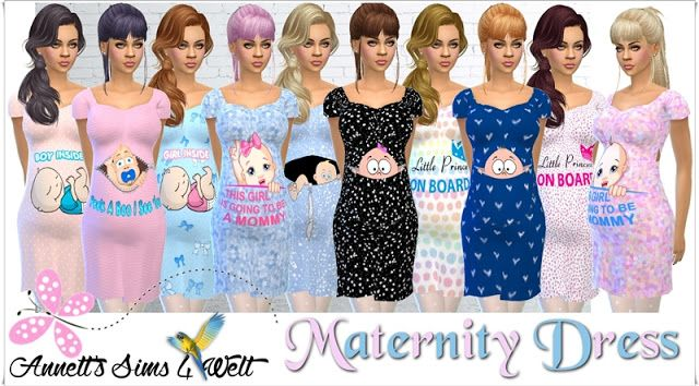 Maternity Dress at Annett's Sims 4 Welt via Sims 4 Updates