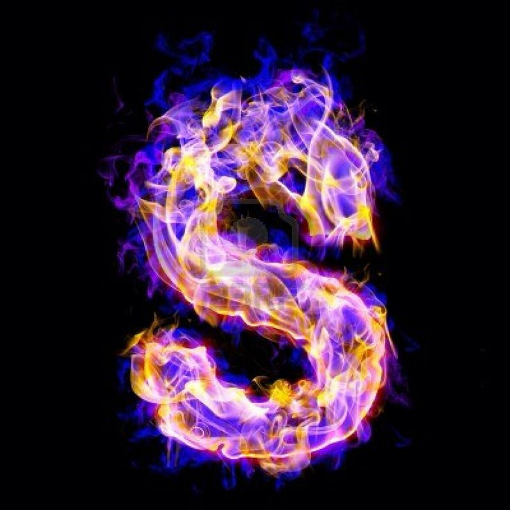 "The Letter ""S""~purple Fire"