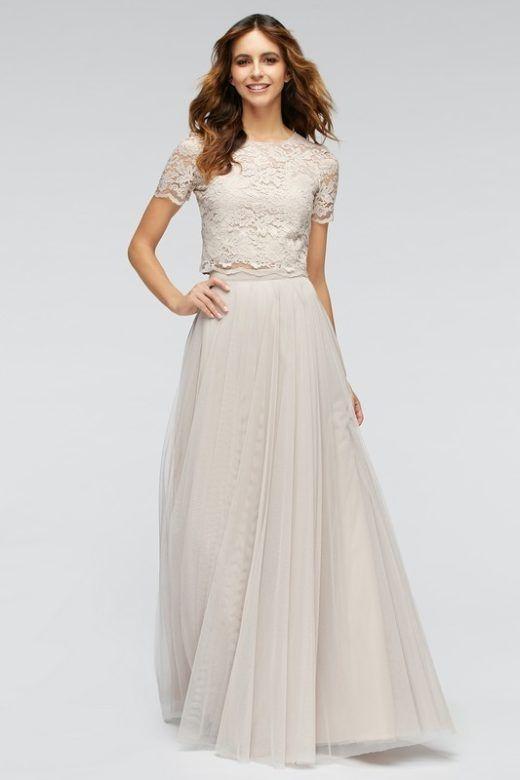 Crop top, l'abito da sposa si spezza in due