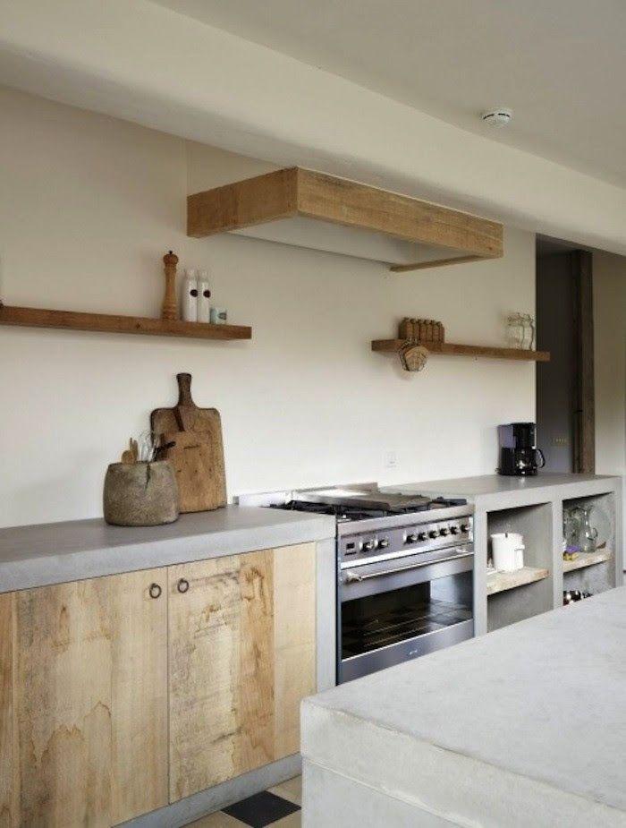 beton bois cuisine