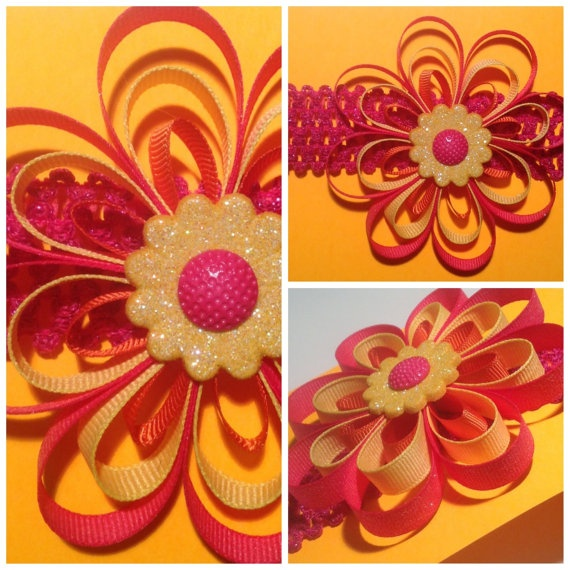 Pinwheel Flower Headband by jajos on Etsy, $8.00
