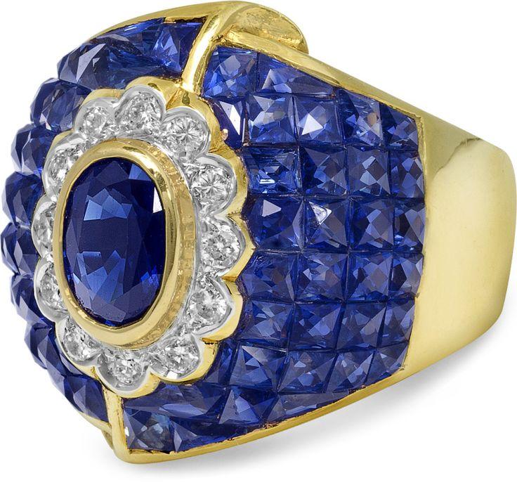 Sapphire and Diamond Ring, Circa 1985