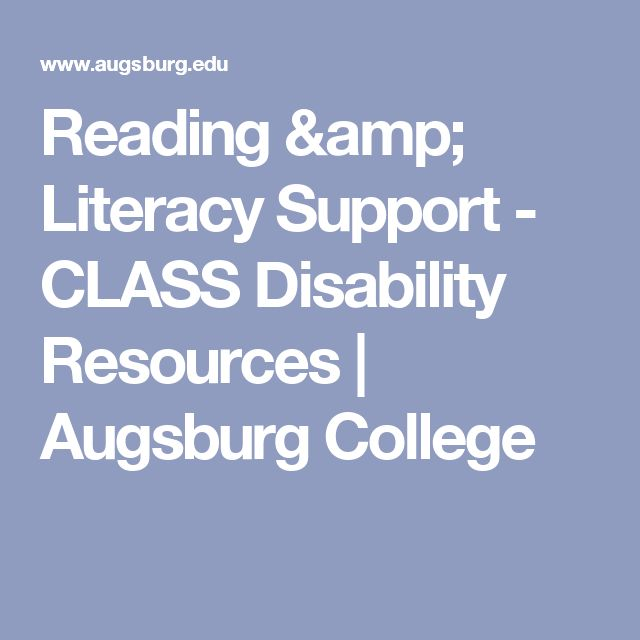 Reading & Literacy Support - CLASS Disability Resources | Augsburg College