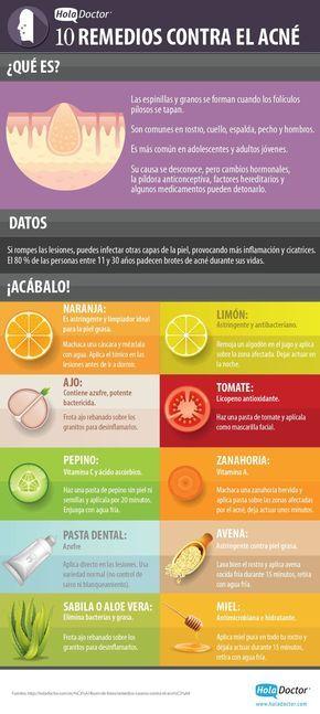 El 80% de las personas adultas entre 11 y 30 años padecen brotes de acné durante sus vidas. Las causas se desconocen, pero los cambios hormonales, la píldora anticonceptiva, factores hereditarios y algunos medicamentos pueden detonarlo. Afortunadamente existen algunos remedios caseros contra el acné que nos pueden ayudar a combatirlo. En esta infografía podemos ver 10 de …