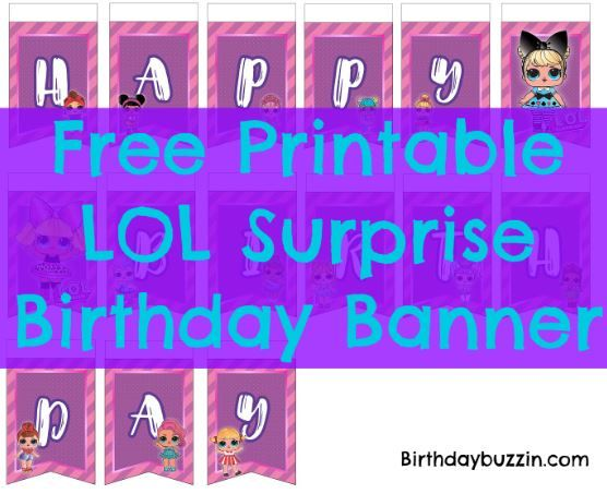 printable lol surprise birthday banner printable